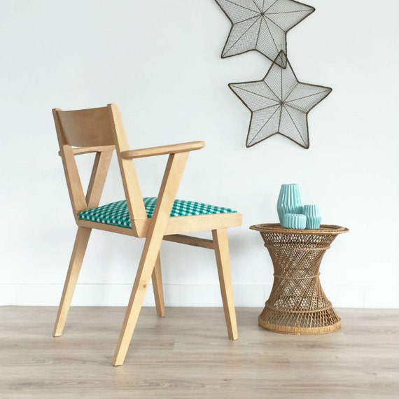 vintage armchair mid century modern seat wood