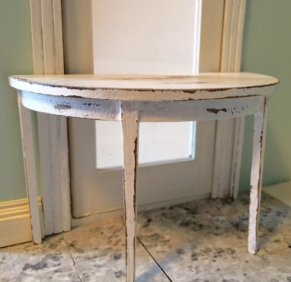1:12 Scale Dollhouse Table Dollhouse Side Table White