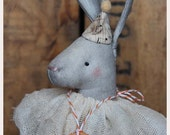 Primitive Folk Art Hare Bunny