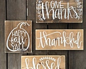 Fall Signs | Gather Sign | Blessed Sign | Happy Fall Yall | Autumn Decor