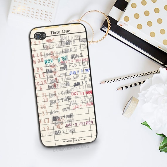 Library Card Cell Phone Case