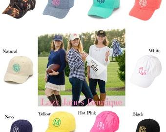Custom Monogrammed Hat (Please Follow Monogram Instructions in Description)