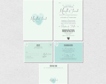 Wedding Invitations - Rustic Romance - Printable Set