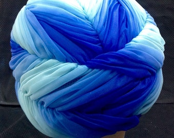 1950s Blue Turban Style Hat