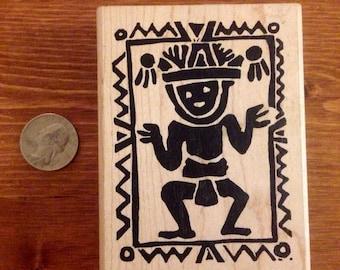 Dancing Man Rubber Stamp