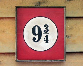 NEW!!** Vintage style wooden '9 3/4' sign, Hand crafted