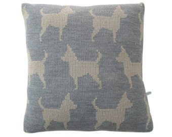 Chihuahua Dog Knitted Cushion Cover