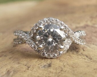 Small Micropave, Thin Micro Pave Band, Dainty Half Eternity, Custom Micropave, Her Half Eternity Band, Her 14k White Gold Engagement Ring