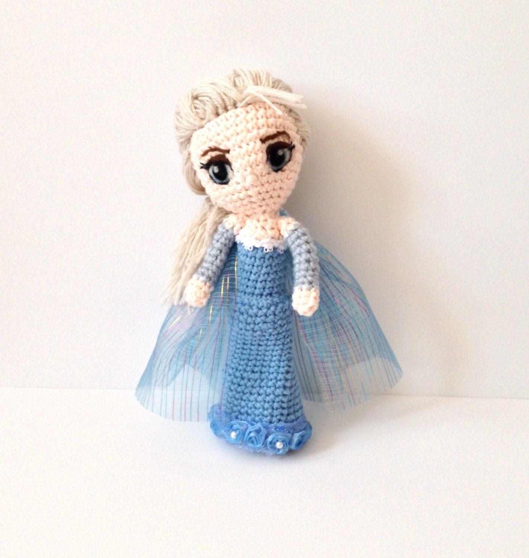 Amigurumi Doll Amigurumi Princess Elsa Inspired Doll Crochet