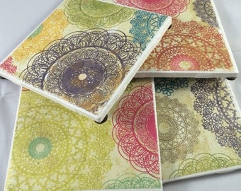 4 pack - tile coasters.