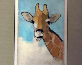 Giraffe /etching