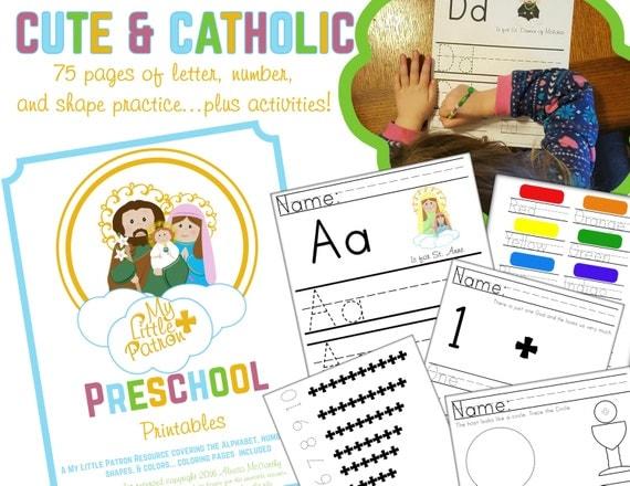 Catholic Worksheets For Kindergarten : Catholic preschool printables