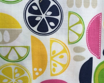 Kitchy Kitchen 101.102.04.2 by Maude Ashbyry for Blend Fabrics ( lemons, limes, cooking, yellow, green)