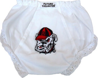 Georgia Bulldog Baby Diaper Cover