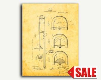 Patent Print - Trombone Patent Wall Art Poster