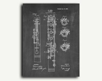 Patent Art - Clarinet Patent Wall Art Print
