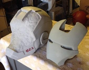Iron man helmet raw cast kit