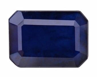 Blue Sapphire Diffused Octagon Cut Loose Gemstone 7x5mm TGW 1.10 cts.