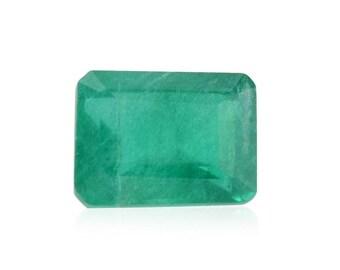 Emerald Green Quartz Loose Gemstone Octagon Cut 1A Quality 9x7mm TGW 1.50 cts.