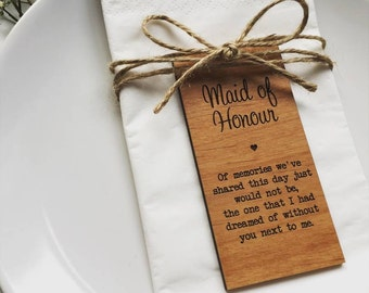 Maid Of Honour Wooden Place Setting