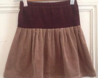 Girls skirt,hand dyed corduroy.