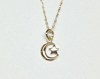 Moon and Star Pendant.