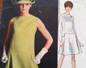 "1970s VOGUE Couturier Design FABIANI of Italy Dress Pattern Size 12 32"" Bust"