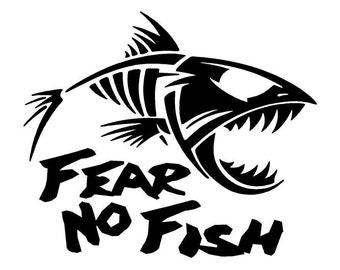 River life decal w catfish for Fear no fish