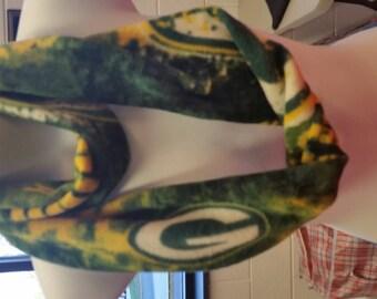 Green Bay Packers NFL fleece infinity scarf