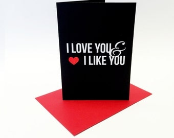 I love you and I like you - A6 greeting card inspired by Parks and Recreation