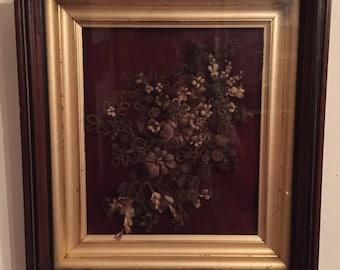 Elaborate Victorian Mourning Wreath