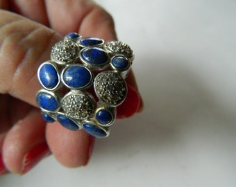 Sterling with Lapis stones-Ring