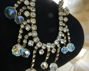 Fabulous-bold and sparkling dangling necklace