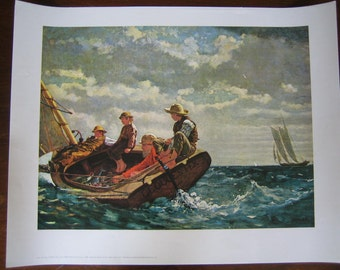 Winslow Homer Breezing Up Print - Poster