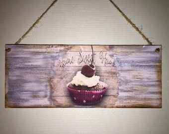 Home sweet home hanging wall plaque Ready to hang