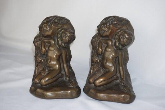 Armour bronze co clad 1914 s morani boy frog by folkloreandyore - Armor bronze bookends ...