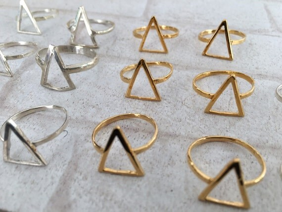 Delicate Open Triangle Ring