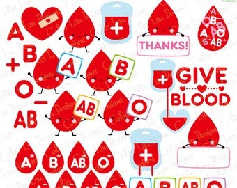 Blood type clipart, Give Blood clip art, Blood type Cartoon