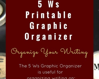 5 Ws Printable Graphic Organizer