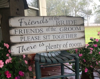 Wedding Ceremony Seating pallet wood sign