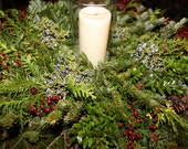 """16"""" Fresh Mixed Pine Candle Ring"""