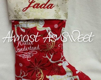 Custom Personalized Christmas Stocking-fully lined