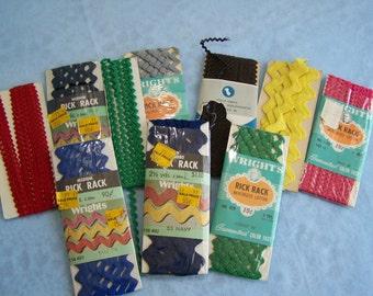 Assorted Rick Rack Zig Zag Fabric Sewing Trim (Set II)