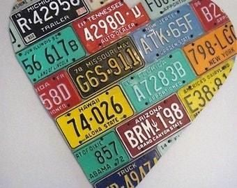 License Plate Big Heart Art