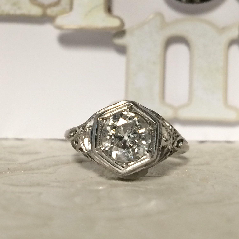 unique deco engagement rings deco unique engagement ring white gold vintage