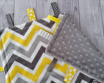 Personalized Tag Blanket, Gender Neutral Tag Blanket, Minky Tag Blanket, Ribbon Tag Blanket, Tag Blanket