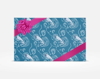 3 Sheets of Jake the Narwhal Gift Wrap - GW-103