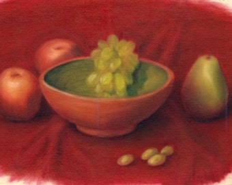 Fruits on Red