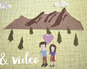 custom handmade paper portrait & stop motion video
