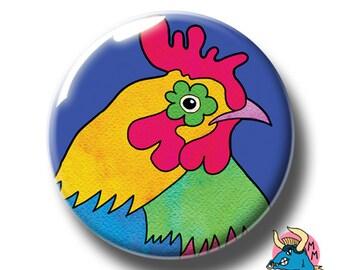 Chicken Badge. Chicken Pin. Chicken Button. Pinback Button. Pin. Pin Badge. Pin Badges. Badges. Button. Buttons. Button Badges. Pins.
